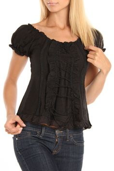 Pudding Jeans Patricia Top In Black