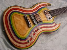 looks like it should come with clown shoes & a squeaky nose! Music Guitar, Cool Guitar, Playing Guitar, Acoustic Guitar, Unique Guitars, Custom Guitars, Vintage Guitars, Guitar Images, Gibson Guitars