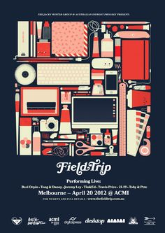 Field Trip poster, by Beci Orpin for Jacky Winter Group