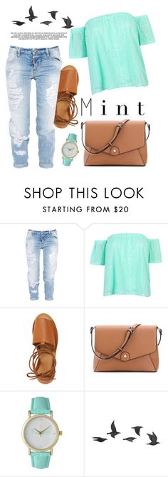 """""""☆"""" by feerrubal ❤ liked on Polyvore featuring Dsquared2, WithChic, Topshop, Olivia Pratt and Jayson Home"""