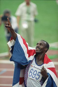 Linford Christie (UK) Sprinter. Olympic Gold Medal winner at 100m in 1992, two Silver medals in 1988 at 100m & 4x100m. World Champion at 100m in 1993, three times European Champion and winner of three Commonwealth Gold medals.