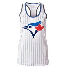 New Era Toronto Blue Jays Women's White Opening Night Pinstripe Tank Top Jersey Outfit, Creation Couture, Toronto Blue Jays, Go Blue, Opening Night, Baseball Mom, Sports Teams, Boston Red Sox, Spring Summer Fashion