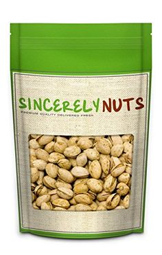 Sincerely Nuts Jalapeno Pistachios in Shell - One (1) Lbs. Bag - Spicy, Delicious and Crunchy - Maintains Heart Health and High In Dietary Fibers - Kosher Certified ** Once in a lifetime offer : Baking supplies