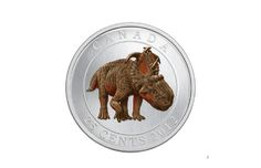 """""""The image of a dinosaur whose remains were discovered in Alberta's Peace Country will be featured on Canada's newest quarter — the first Canadian coin with a glow-in-the dark picture."""" //    Why does the USA suck so much? I want glow-in-the-dark money..."""