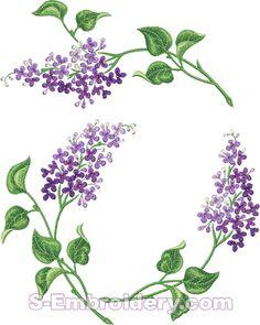 10579 Lilac machine embroidery set