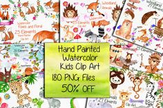 Watercolor Bundle-kids clipart by vivastarkids on @creativemarket
