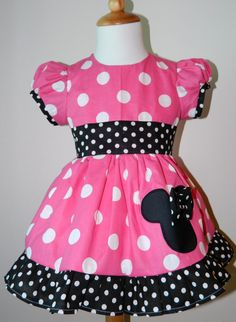 Girls Hand Made Custom Boutique Minnie Mouse by FunUpTownGirls, $42.00