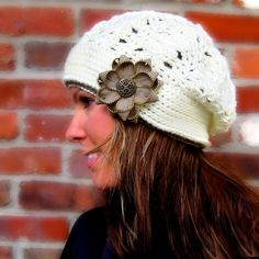I love #crocheted hats, especially ones that you can embellish with #DIY flowers.