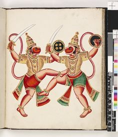 Album of South Indian paintings on paper.