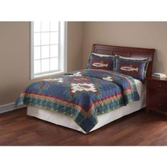 Mainstays Quilt Collection Shooting Star Queen 20