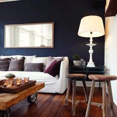 I want a navy blue wall. Just 1, even.