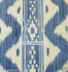 Y67 Quadrille Woven Linen Cotton Blend Vivid Ikat Fabric  Bali Hai 5 Yards | eBay