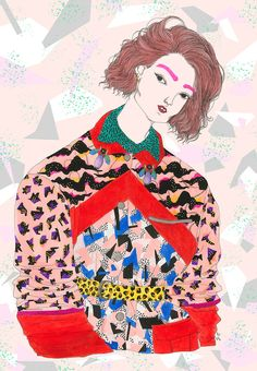 Jeremy Combot- Crazy Colored Fashion Illustration Jeremy Combot is a freelance illustrator from France. He is a self-taught artist and his work could be defined as a mixture of crazy colors / Fashion. Beauty Illustration, Illustration Sketches, Silhouette Mode, 3d Art, Drawn Art, Art Graphique, Fashion Sketches, Fashion Illustrations, Fashion Illustration Portfolio