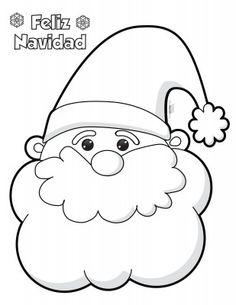 Santa-Claus-para-colorear-e-imprimir - Orientación Andújar - Recursos Educativos Christmas Drawing, Felt Christmas, Christmas Colors, Christmas Projects, Holiday Crafts, Christmas Decorations, Christmas Ornaments, Santa Claus Drawing, Felt Crafts