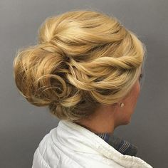 Loose Updo With Twists