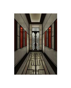 Entrance hall of Casa Carcassola-Grandi located in Via Montenapoleone, Milan. Designed by Gio Ponti. Gio Ponti, Entrance Hall, Milan, Inspiration, Design, Biblical Inspiration, Entryway, Design Comics, Entrance