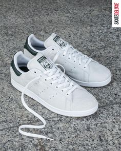 Get the classic adidas Skateboarding Stan Smith - now available as an updated skate version! Skate Shoe Brands, Skate Shoes, New Skate, Shoe Releases, Nike Sb, Stan Smith, Skateboard, Adidas, Shopping