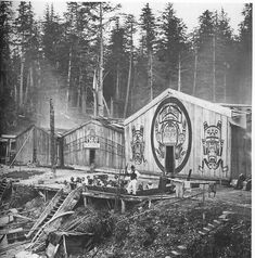 Kwakiutl Plank House Pacific Northwest date 1905