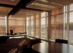 Hunter Douglas Sliding Shutters blend style and functionality - inside and out. By providing building exteriors with a futuristic look as well as offering optimal solar effectiveness for maximum internal comfort, Sliding Shutters offer a total buildin