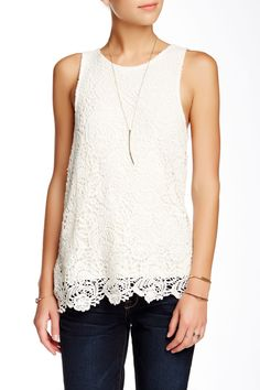 Lucky Brand | Layered Lace Tank | HauteLook