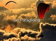 Now have been paragliding- over the Andes!