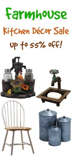 Farmhouse Kitchen Decor on Sale!  I seriously LOVE that soap dish!!