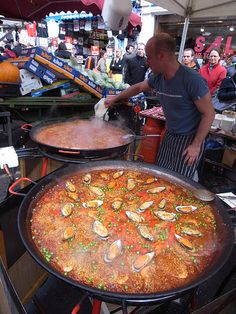 London - Paella at Portobello Road Market - Explore the World with Travel Nerd Nici, one Country at a Time. http://TravelNerdNici.com