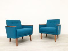 Pair Of Danish Mid Century 50s Inspired Low Back Cocktail Lounge Chair In Teak photo 1