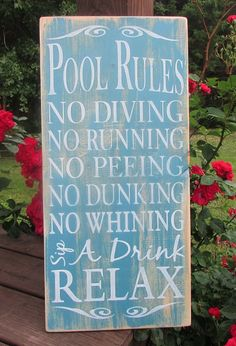pool rules sign, primitive pool sign, primitive country decor, wood signs, hand painted sign, outdoor decor