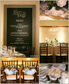 Divine Wedding Details at The Ivy Room in Chicago - Light Blue Chevron!