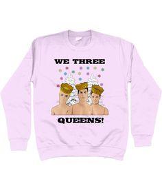 5abbd7f77 Funny, Gay, Christmas Jumper, We Three Queens! Christmas Carol/Hymn, Dolls,  Humour, LGBT, LGBTQ, Gay Interest (Away In A Manger)