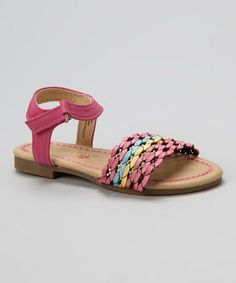 Love this Fuchsia Braided Strap Sandal by Petalia on #zulily! #zulilyfinds