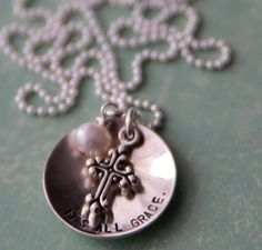 it's all grace. stamped sterling necklace