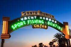 Santa Monica Pier Sign Print