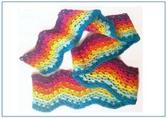 """Scarf """"Colorful"""" - Crochet Pattern"""