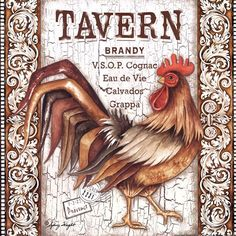 Rooster Tavern by Sydney Wright art print