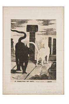 Le rendez-vous des chats-dessin original de Manet | Les Arts décoratifs