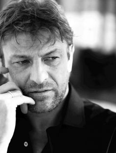Sean Bean. Usually known as the guy who dies in pretty much every movie he takes part in :D There is something very calming and masculine about his face, to me.