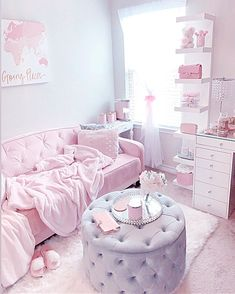 Cute Bedroom Ideas, Cute Room Decor, Room Ideas Bedroom, Teen Room Decor, Bedroom Themes, Bedroom Decor, Aesthetic Room Decor, Stylish Bedroom, Pink Room