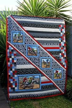 Nice quilt for the boys in our life - by Chasing Cottons: Quilt Class 101 - Week 2 Design