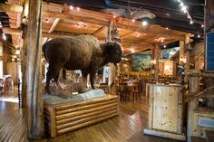 The Gun Barrel Steak and Game House truly captures the wild west aspect of Jackson Hole, with rustic decor and exhibits from former tenant, the Wyoming Wildlife Museum & Taxidermy. A short drive from the Inn on the Creek, diners will enjoy some of the valley's finest steaks and game cooked over an open mesquite wood grill.