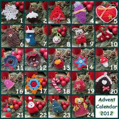 Little things made with love♥: advent calendar - all crocheted ornaments