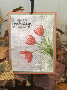 Finally had a chance to use some new things. The tulip set is my favorite right now. I love the burlap and Background Bits. It was so fun to put this together. Burlap Card, Burlap Background, Beautiful Handmade Cards, Paper Artist, Stamping Up, Creative Cards, Flower Cards, Greeting Cards Handmade, Diy Cards