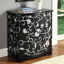 black and white - wonder if I can do this with my refurbished dresser?