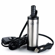 Portable DC 12V Submersible Transfer Pump 38mm Water Oil Diesel Fuel Transfer Cigarette Plug Camping Fishing #women, #men, #hats, #watches, #belts, #fashion, #style
