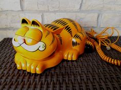 Vintage Garfield Push Button Phone Opens Eyes When Lift Receiver by Tyco  WORKS Retro Comic Strip Cartoon. $55.00, via Etsy.