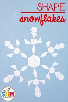 Awesome shape snowflakes craft and math activity in one! Perfect for kids in preschool, kindergarten, first grade or second grade. There are so many fun ways to stretch and simplify this kids' craftivity.