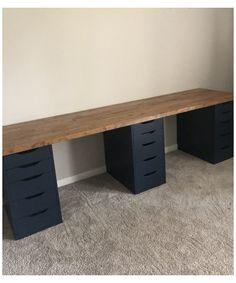 Home Office Setup, Home Office Space, Home Office Design, Desk Space, Ikea Home Office, Home Office Bedroom, Desk Office, Office Ideas, Desk For Two