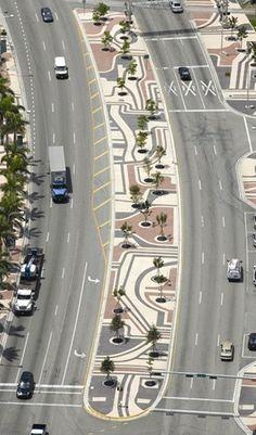Biscayne Boulevard, Miami, Florida - Roberto Burle Marx
