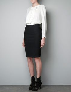 TWO-TONE DRESS - Dresses - Woman - ZARA United States